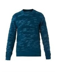 Maison Martin Margiela Camouflage Burn Out Wool Knit Sweater