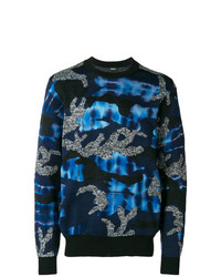 Diesel Camouflage Contrast Sweater