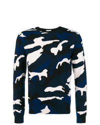 Valentino Camouflage Fitted Sweater