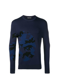 Neil Barrett Camouflage Pattern Sweater