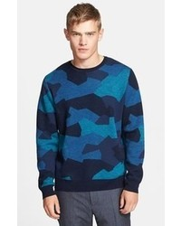 Paul Smith Ps Camo Merino Wool Crewneck Sweater