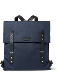 Miansai Santon Leather Trimmed Water Repellent Canvas Backpack