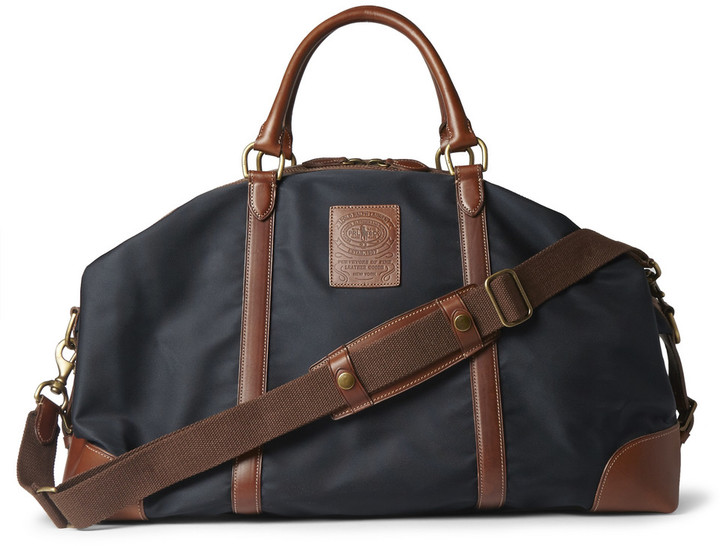 0aa08929cdb Polo Ralph Lauren Leather Trimmed Canvas Holdall, £383   MR PORTER ...