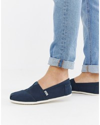 Toms Classic Espadrilles In Navy Canvas