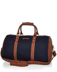 Navy Canvas Holdall