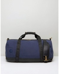 Mi-Pac Canvas Tumbled Carryall In Navy Black