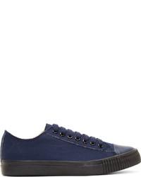 Navy Canvas Low Top Sneakers