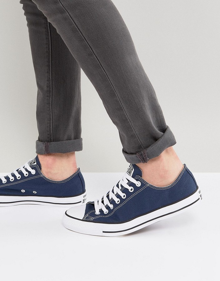 0fb7d764d0c48f ... Converse All Star Ox Sneakers In Navy M9697c ...