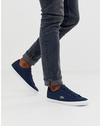 Lacoste Lerond Trainers In Navy Canvas