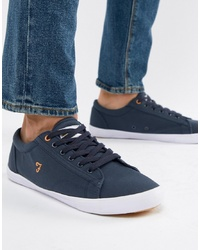Farah Vintage Brucey Canvas Trainers In Navy