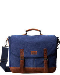 Navy Canvas Messenger Bag