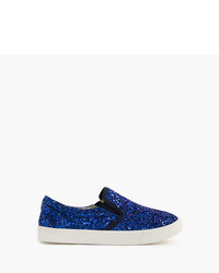 J.Crew Girls Slide Sneakers In Glitter