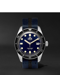 Oris Divers Sixty Five 42mm Stainless Steel And Canvas Watch Ref No 01 733 7720 4055 07 5 21 28fc