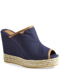 Tory Burch Canvas Wedge Sandal