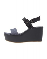 Remi plateau wedge sandals dark navy medium 4060082