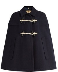Burberry London Capsmore Wool And Cashmere Blend Duffle Cape