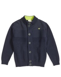 Armani Junior Boys Cotton Wool Cardigan