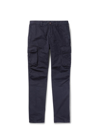 Incotex Slim Fit Cotton And Linen Blend Cargo Trousers