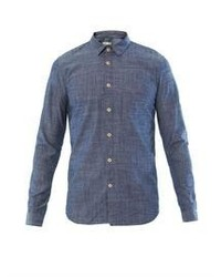 Folk Contrast Elbow Patch Chambray Shirt