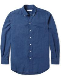 Loro Piana Cotton And Linen Blend Chambray Shirt