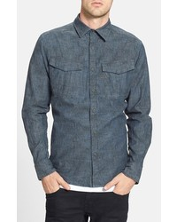 G star raw rovic print chambray shirt medium 257625