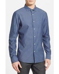 Michael Kors Michl Kors Slim Fit Pin Dot Chambray Sport Shirt