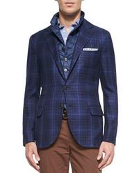 Navy Check Blazers for Men | Men's Fashion