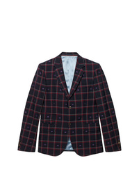 Gucci Cambridge Gg Checked Blazer