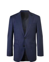 Hugo Boss Navy Helward Gelvin Slim Fit Prince Of Wales Checked Wool Suit