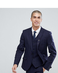Heart & Dagger Slim Stretch Suit Jacket In Tweed Check