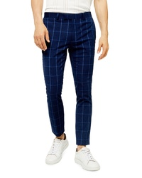 Navy Check Chinos