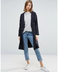 NATIVE YOUTH All Over Check Lightweight Trench