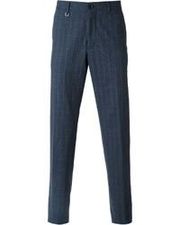 Navy Check Dress Pants