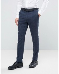 Homme skinny suit pants in window pane check medium 3726742