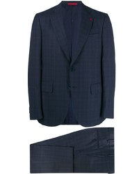 Isaia Check Two Piece Suit