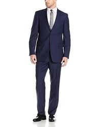 Tommy Hilfiger Blue Thin Windowpane 2 Button Side Vent Trim Fit Suit