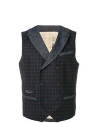 Al Duca D'Aosta 1902 Check Double Breasted Waistcoat