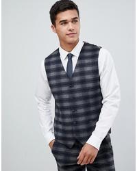 Jack & Jones Premium Suit Waistcoat In Check