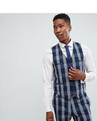 Noak Skinny Suit Waistcoat In Check