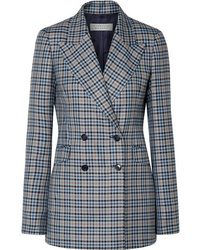 Gabriela Hearst Angela Checked Silk And Wool Blend Blazer