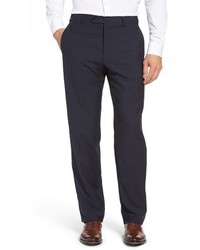 Flat front check wool trousers medium 844063