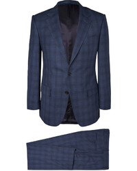Gieves Hawkes Navy Checked Wool Suit