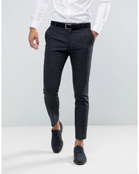 Selected Homme Slim Suit Pant In Wool Mix With Grid Check