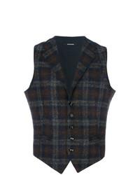 Tagliatore Woven Check Waistcoat
