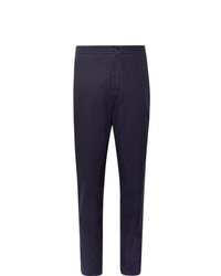 Ermenegildo Zegna Navy Gart Dyed Stretch Cotton Suit Trousers