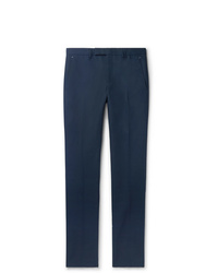 Berluti Navy Slim Fit Tapered Cotton Twill Chinos