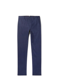 Zanella Noah Navy Slim Fit Gart Dyed Stretch Cotton Chinos