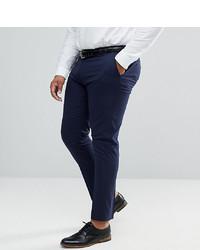 ASOS DESIGN Plus Skinny Smart Trousers In Navy