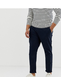 ASOS DESIGN Plus Slim Chinos In Navy