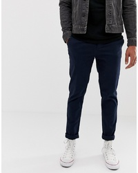 ASOS DESIGN Slim Chinos In Navy